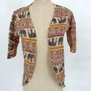Ginger G elephant jungle print cardigan tunic